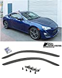 Extreme Online Store Compatible for 2013-2016 Scion FR-S   Subaru BRZ   Toyota 86 JDM Clip-ON Style Smoke Tinted Side Vents Window Deflectors Rain Guard FRS BR-Z EOS Visors DWV-SBRZ-OE