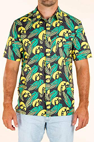 Iowa Hawkeyes Hawaiian Shirt - X-Large - Black