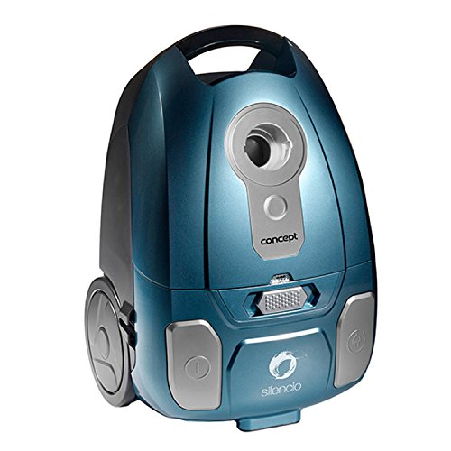 Concept Electrodomésticos VP8250 - Aspirador con Bolsa Ultra silencioso turbocepillo, 700 W, Color Azul