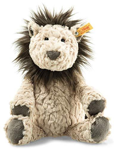 Steiff Lionel Löwe - 30 cm - Plüschlöwe - Kuscheltier für Kinder - Soft Cuddly Friends - weich & waschbar - beige / braun (065682)