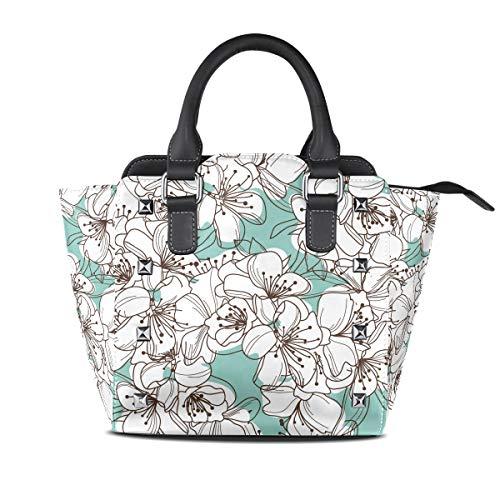 MALPLENA Malpela Handtasche/Arbeitstasche mit Blumenmuster