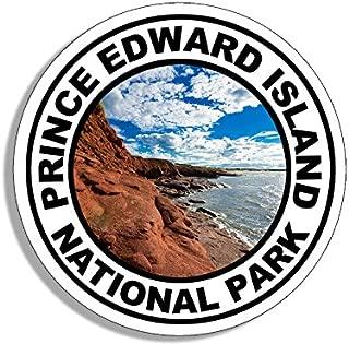American Vinyl Round Prince Edward Island National Park Sticker (Travel rv Hike Canada)