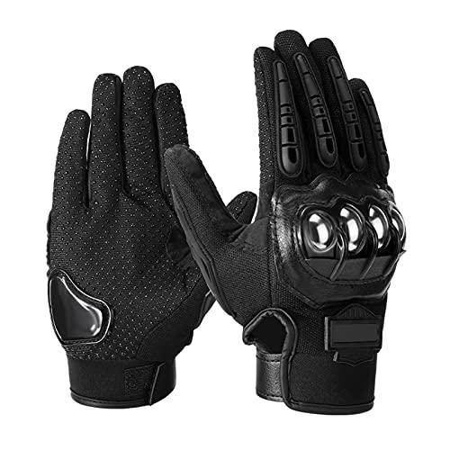 Domary Luvas de motocicleta masculina Luvas de dedo completo para motocicleta Luvas de resistência ao rasgo e queda Protetor de mão para motociclismo de corrida Motocross de montanha respirável M-XX