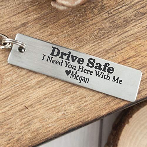 Personalized Boyfriend Gift Husband Gift Drive Safe Keychain Gift For Birthday Gift Idea I Need You Here With Me Keychain Gift For Husband DRIVE-SAFE-KEYCHAIN