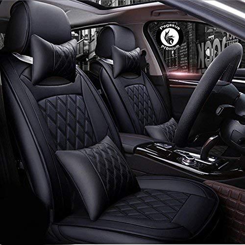 PegasusPremium PU Leather Car Seat Cover for Maruti Baleno (Black)