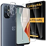 [2+2 Pack] UniqueMe Tempered Glass Compatible for Oneplus Nord N100 5G [Not for Oneplus Nord N10] Screen Protector and Camera Lens Protector [Case Friendly] [Bubble Free]