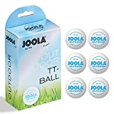 JOOLA Outdoor Table Tennis Balls - 6 Pack of 40mm Regulation Size Ping Pong Balls for Training and Recreational Play - Fun as a Cat Toy - Indoor and Outdoor Compatible- White