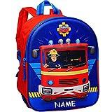 alles-meine.de GmbH 3D Effekt _ Kinder Rucksack - Feuerwehrmann Sam - inkl. Name - Tasche - wasserfest & beschichtet - Kinderrucksack groß Kind - Jungen - Kindergartentasche - z...