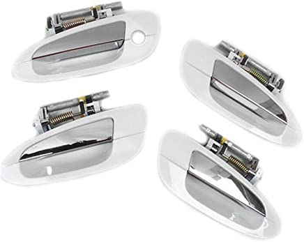 For 2002-2006 2002-2006 NISSAN ALTIMA Outside Door Handle QX3 White DS189 4 Set