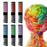 Sokey - 6 peines de tinte para el pelo, para niñas, temporal, para coloración del cabello, para niños, para fiestas y cosplay