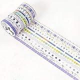 HBCDSAO 10 Rollos/Paquete Asistente del Arco Iris Dorado Washi Tape Set de Bricolaje decoración de Scrapbooking Planificador de la Cinta Adhesiva de la Etiqueta autoadhesiva de Escritorio Paquete