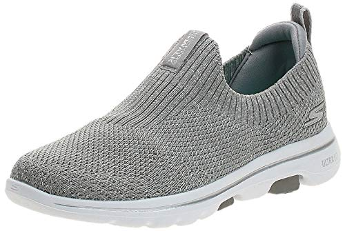 Skechers Damen Slipper Go Walk Textil Trim grau Gr. 37
