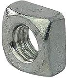 AERZETIX - Set di 20 - Dadi quadrati smussati M6 - Acciaio zincato 5.8 - Filettatura metri...