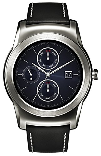 LG Watch Urbane Smartwatch (3,3 cm (1,3 Zoll) P-OLED Display, Android Wear) silber