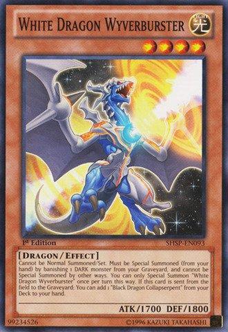YU-GI-OH! - White Dragon Wyverburster (SHSP-EN093) - Shadow Specters - 1st Edition - Common