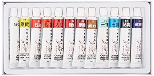 Yasutomo Yc-Cp12 Chinese Watercolors Set - 12 Colors