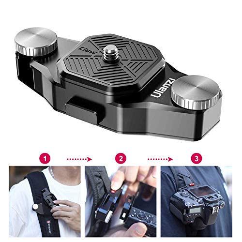 ULANZI Camera Backpack Quick Release Mount, Shoulder Strap Mount Waist Belt Mount Holder Capture Camera Clip for DSLR Sony a6400 a6500 a6600 Canon Nikon Compact Camera