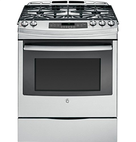 GE JGS750SEFSS 30' Stainless Steel Gas Slide-In Sealed Burner Range - Convection