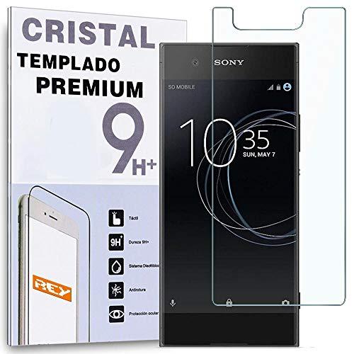 REY Protector de Pantalla para Sony Xperia XA1, Cristal Vidrio Templado Premium