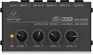 Best Behringer Micromix MX400 Ultra Low-Noise 4-Channel Line Mixer,Black Review
