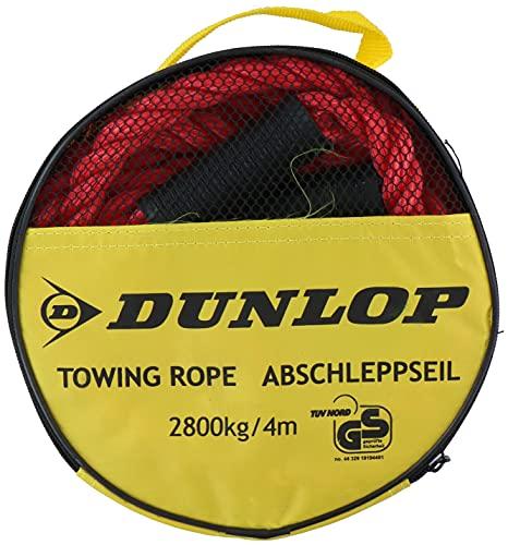 Dunlop Abschleppseil - Max 2800 Kg - 4 Meter lang - Rot