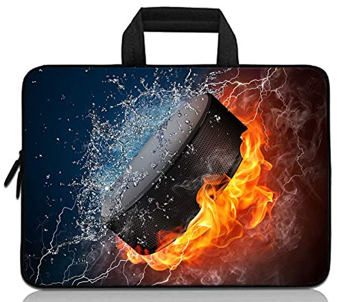 11' 11.6' 12' 12.1' 12.5' inch Laptop Carrying Bag Chromebook Case Notebook Ultrabook Bag Tablet Cover Neoprene Fit Samsung Google Acer HP DELL Lenovo Asus (11 11.6 12.1 12.2 inch, Ice Hockey Fire)