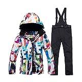 WYPG Traje De Esquí Grueso Y Cálido para Mujer Impermeable Chaqueta De Esquí Y Snowboard A Prueba De Viento Conjunto De Pantalones Trajes De Nieve para Mujer Ropa Al Aire Libre