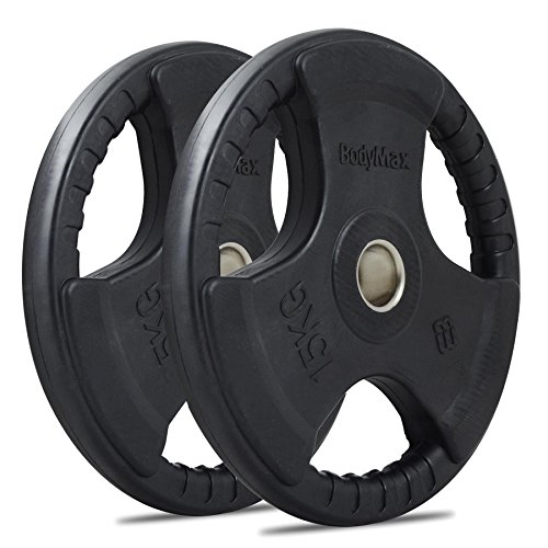 Bodymax Olympic Rubber Radial Weight Plates - 2 x 15kg