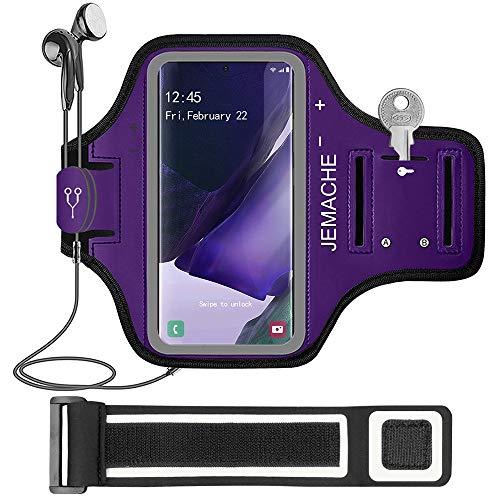 Galaxy Note 20, 20 Ultra Running Brazalete, JEMACHE Deportivo Correr Móvil Brazo Banda Funda para Samsung Galaxy Note 20, 20 Ultra (Morado)