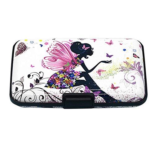 Prosperveil Fashion - Cartera para mujer con impresión a color RFID para proteger tarjetas de crédito, caja de tarjetas de crédito, color estilo 1