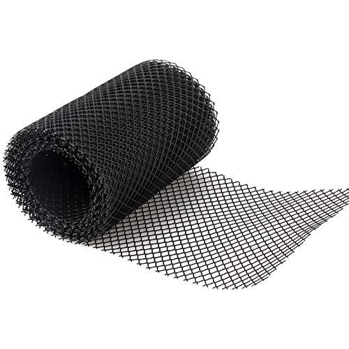 MOVKZACV Kunststoff-Dachrinnenschutz für Dachrinnen-Verstopfungen verhindert Abfluss, geriffeltes Netz für zusätzlichen Schutz, Premium-Anti-Blatt-Dachrinnenabdeckung verhindert verstopfte Fallrohre