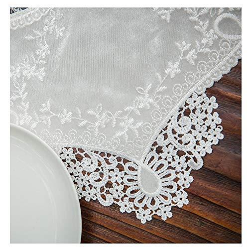WXIAO Exquise tafelloper, machinewasbaar, banquet, kant, tafelkleed voor bruiloft, hitte, themafeest, koffie, zakdoeken, eetkamer