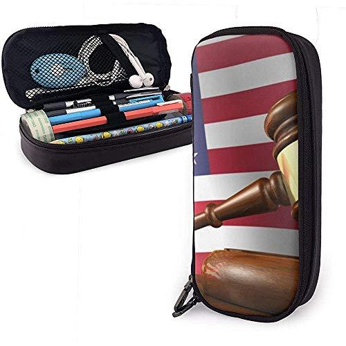 Estuche lápices Abogado estadounidense Juez Martillo