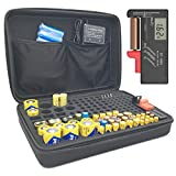 Battery Organizer Storage with Tester, Hand Case Bag Holder - Holds 152 Batteries