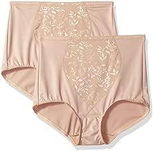 Bali Women's Tummy Panel Firm Control Shapewear Brief DFX710 2-Pack, Nude Jacquard, Medium