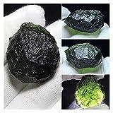 YSJJDRT Cristallo Naturale Grezzo Green Moldavite Meteorite Meteorite Glass Glass in Pietra Ruvida Energia di Cristallo 1pcs (Size : 9 11g)