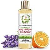 Völlig Natürliches und Organisches Babyshampoo, Körperwäsche und Duschgel | Lavendel und...