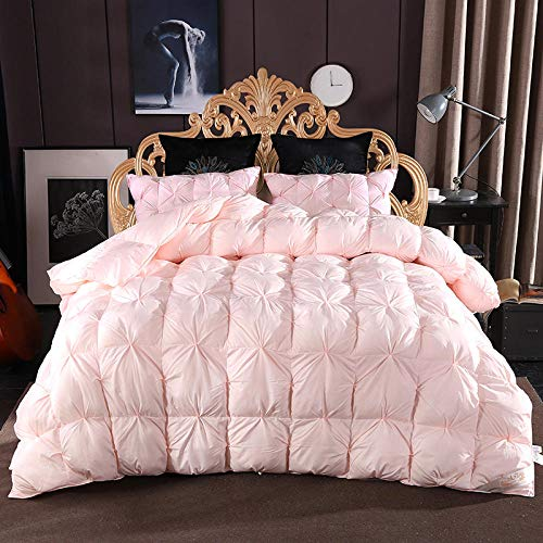 CHOU DAN Winter Duvet Double,Twisted Flower Down Quilt 95% White Goose Down Thickened Winter Quilt French Bread Twisted Flower-Jade_200*230cm 3000g