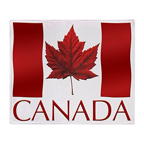 CafePress Canada Flag Souvenir Throw Blanket Soft Fleece Throw Blanket,...