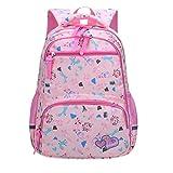 Mochila escolar para niña, mochila escolar, mochila escolar, mochila infantil, para escuela y ocio, Rosa., L