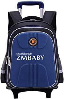 GLJJQMY Travel Backpack Three Rounds Can Climb The Stairs to Pull Large Capacity Waterproof and Reduce The Student Trolley Bag Trolley Backpack (Color : Sapphire, Size : 41x20x31cm)