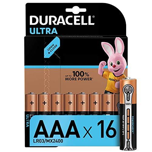 Duracell Ultra Power AAA Batterie Alcaline, Confezione da 16