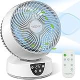 YISSVIC Ventilateur Silencieux avec Télécommande Ventilateur à Circulation d'Air 3D Oscillation 3 Vitesses Minuterie 9H pour Chambre 30m²