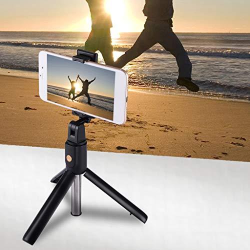Chenso Soporte para palo de selfie, inalámbrico, Bluetooth, palo selfie desmontable, monopod plegable para iPhone/teléfonos móviles Android para cámara Go-Pro