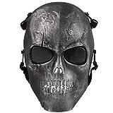 Airsoft Máscara, coofit Ghost Skull Airsoft–Máscara Protectora para Paintball Máscara Calavera Halloween máscara