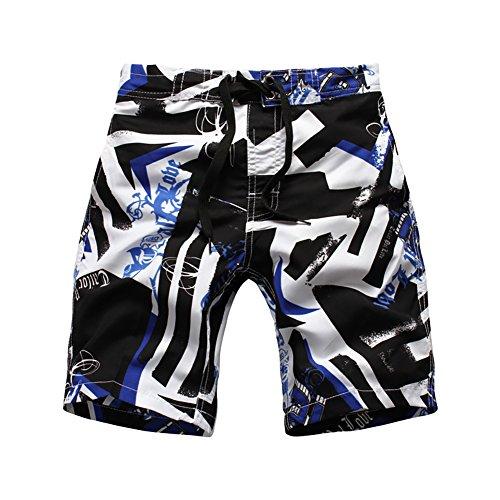 LAPLBEKE Jungen Badehose Boardshorts Schnelltrockend Strandshorts Urlaub Shorts, Blau, Größe XL 152/158