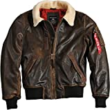 Alpha Industries Injector III Leather Jacke M