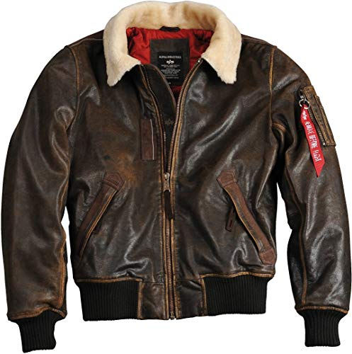 Alpha Industries Injector III Leather Jacke L