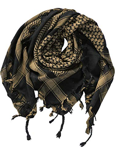 Harrys-Collection PLO Tuch in 20 Farben 100% Baumwolle dick, Farben:schwarz mit beige