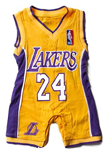 Lakers Baby Jersey (6 to 12 Months) Yellow